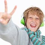 Muestra feliz del cabrito v Imagen de archivo libre de regalías