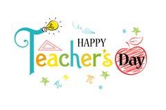 Muestra feliz del día de los profesores stock de ilustración
