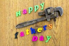 Muestra feliz del día de padres de la llave Fotografía de archivo