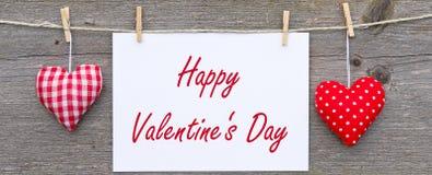 Muestra feliz del día de tarjetas del día de San Valentín Fotografía de archivo libre de regalías