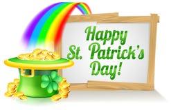 Muestra feliz del día del St Patricks Fotografía de archivo