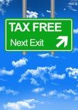 Muestra fiscal de Paradise Road o concepto exento de impuestos Foto de archivo libre de regalías