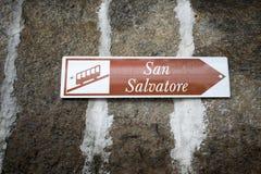 Muestra funicular de Monte San Salvatore Imagenes de archivo