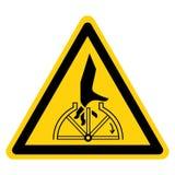 Muestra giratoria del símbolo del enredo de la mano, ejemplo del vector, aislante en la etiqueta blanca del fondo EPS10 stock de ilustración
