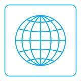 Muestra global del mundo del icono del globo de la tierra stock de ilustración