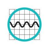 Muestra gráfica y símbolo del vector del icono de la onda sinusoidal aislados en el fondo blanco, concepto gráfico del logotipo d ilustración del vector