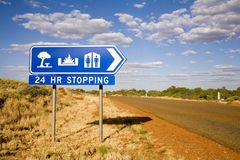 Muestra gratis que acampa en Australia occidental Foto de archivo