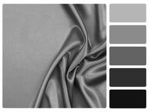 Muestra gris de la paleta de color del satén imágenes de archivo libres de regalías