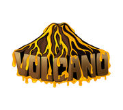 Muestra hermosa del volcán Foto de archivo libre de regalías