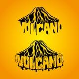Muestra hermosa del volcán Fotos de archivo