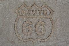 Muestra histórica de Route 66 fotografía de archivo libre de regalías