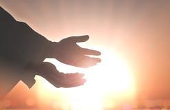 Muestra humana de las manos Fotografía de archivo libre de regalías