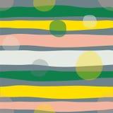 Muestra inconsútil del modelo del vector garabatos geométricos paleta de moda verde Fotografía de archivo