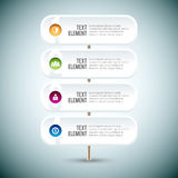 Muestra Infographic de poste Fotos de archivo