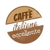 Muestra italiana del café del vintage Foto de archivo