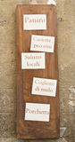 Muestra italiana del departamento hecha en casa Foto de archivo libre de regalías