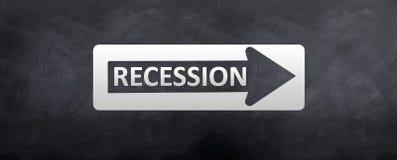 Muestra a la recesión Fotos de archivo libres de regalías