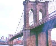 Muestra, ladrillos, cerca del puente de Brooklyn fotografía de archivo