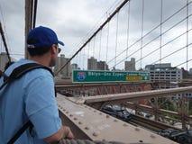 Muestra, ladrillos, cerca del puente de Brooklyn imagenes de archivo