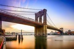 Muestra, ladrillos, cerca del puente de Brooklyn Imagen de archivo libre de regalías