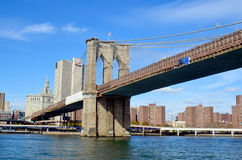 Muestra, ladrillos, cerca del puente de Brooklyn Imágenes de archivo libres de regalías