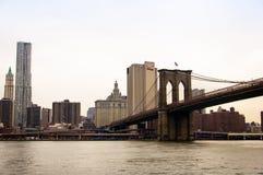 Muestra, ladrillos, cerca del puente de Brooklyn Imagen de archivo