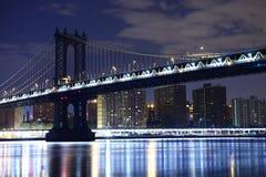 Muestra, ladrillos, cerca del puente de Brooklyn Manhattan Nueva York Los Estados Unidos de América Fotos de archivo libres de regalías