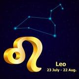 Muestra Leo del zodiaco del vector stock de ilustración