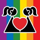 Muestra lesbiana Imagenes de archivo