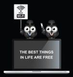 Muestra libre de Wifi Fotografía de archivo libre de regalías