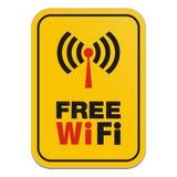 Muestra libre del amarillo de Wi-Fi ilustración del vector