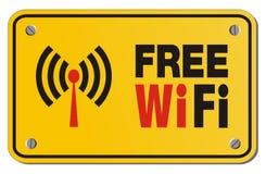 Muestra libre del amarillo de WiFi - muestra del rectángulo stock de ilustración