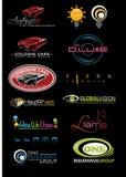 Muestra Logo Set 10 imágenes de archivo libres de regalías