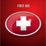 Muestra médica del botón de los primeros auxilios  Foto de archivo libre de regalías