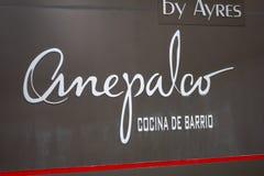 Muestra mexicana moderna del restaurante de Anepalco foto de archivo