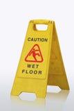 Muestra mojada del suelo de la precaución imagen de archivo