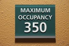 Muestra máxima de la ocupación 350 Foto de archivo libre de regalías