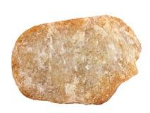 Muestra natural de roca cristalina del orthoquartzite de la cuarcita en el fondo blanco Fotos de archivo libres de regalías