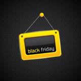 Muestra negra colgante de viernes Fotos de archivo