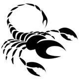Muestra negra de la estrella del zodiaco del escorpión Foto de archivo libre de regalías