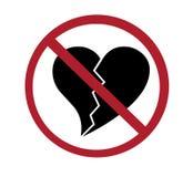 Muestra - ningunos corazones quebrados Imagenes de archivo