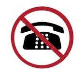 Muestra - ningunos teléfonos Fotografía de archivo libre de regalías
