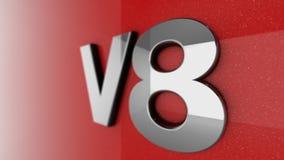 Muestra o insignia de V8 ilustración del vector