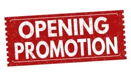 Muestra o sello de apertura de la promoción imagen de archivo