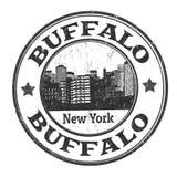 Muestra o sello del búfalo stock de ilustración