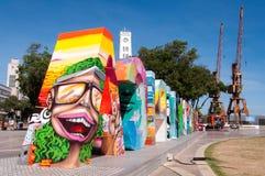 Muestra olímpica colorida de la ciudad Imagen de archivo