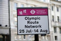 Muestra olímpica de la red de la ruta Fotos de archivo libres de regalías