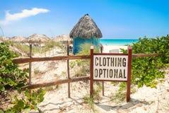 Muestra opcional de la playa de la ropa fotos de archivo
