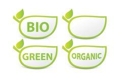 Muestra orgánica, BIO muestra, verde Imagen de archivo libre de regalías