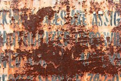 Muestra oxidada Fotografía de archivo libre de regalías